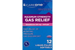 CareOne Liquid Filled Softgels Gas Relief Maximum Strength - 12 CT