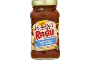 Homestyle Ragu Pasta Sauce Thick & Hearty Four Cheese