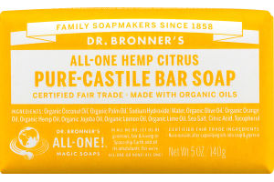 Dr. Bronner's All-One Hemp Citrus Pure-Castile Bar Soap