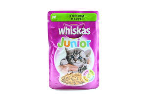 Корм для котят с ягненком в соусе Whiskas Junior д/п 100г