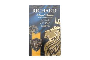 Чай черный крупнолистовой Royal Ceylon Richard к/у 90г