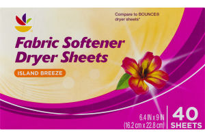 Ahold Fabric Softener Dryer Sheets Island Breeze - 40 CT