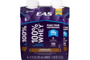 EAS 100% Whey Protein Shake Chocolate - 4 PK