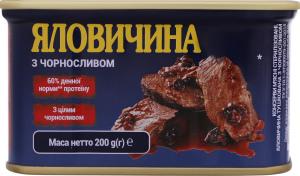 Говядина тушенная с черносливом Power BANKa ж/б 200г