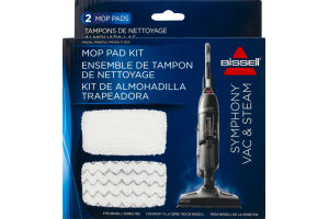 Bissell Mop Pad Kit Fits Bissell Series 1132 Symphony Vac & Steam - 2 CT