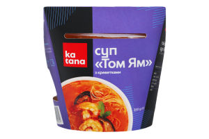 Суп тайский с креветками Том ям Katana охл к/у 350г