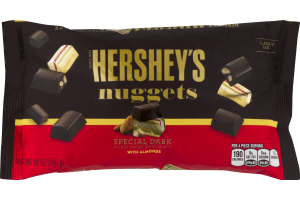 HERSHEY'S NUGGETS SPECIAL DARK Mildly Sweet Chocolate with Almonds, 12 oz
