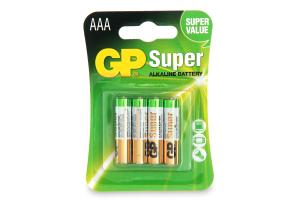 Батарейка GP SUPER LR03 AAА 4шт