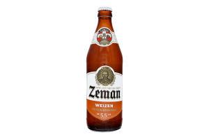 Пиво 0.5л 5.5% світле пастеризоване нефільтроване Weizen Zeman пл