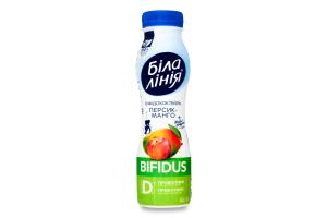 Біфідококтейль 1.5% Персик-манго Bifidus Біла Лінія п/пл 250г
