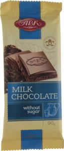 Шоколад без цукру молочний АВК 90г