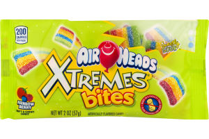 Air Heads Xtremes Bites Soft & Chewy Candy Rainbow Berry Sweetly Sour