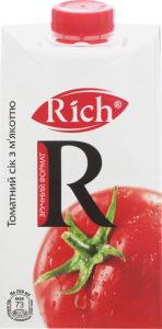 Сок томатный с мякотью Rich т/п 0.5л