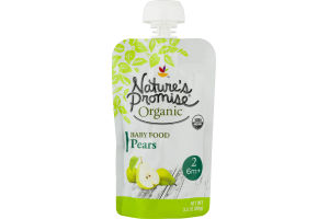 Nature's Promise Organic Baby Food Pears 6m+