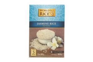 Рис длиннозернистый в пакетиках Жасмин World's Rice к/у 5х80г