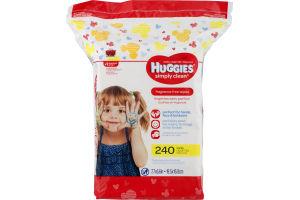 Huggies Simply Clean Wipes - 240 CT