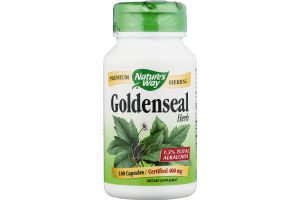 Nature's Way Goldenseal Herb 400mg Capsules - 100 CT