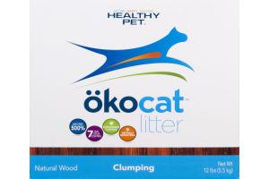 Healthy Pet Okocat Natural Wood Litter Clumping