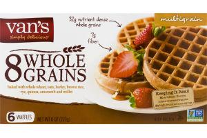 Van's 8 Whole Grains Waffles Multigrain - 6 CT