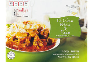 Neilly's Global Cuisine Chicken Stew & Rice Caribbean Style
