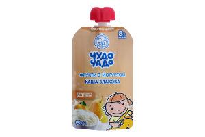 Пюре для дітей від 8міс з кашею злаковою Фрукти з йогуртом Чудо-чадо д/п 90г