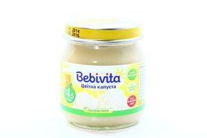 Пюре для детей от 4.5мес Цветная капуста Bebivita с/б 100г