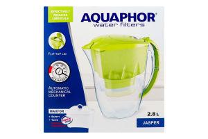 Фільтр-глечик 2.8л чорний Р82B25FM Jasper Aquaphor 1шт