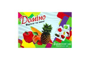 Игра настольная для детей от 3лет №30764 Домино Фрукты и овощи Мир Лео 1шт