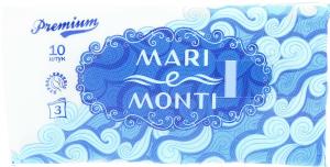 MARI e MONTI хусточки паперові тришарові неароматизовані 10шт