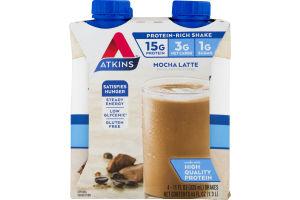 Atkins Mocha Latte Shake - 4 CT