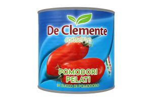 Консервированые помидоры 1500г de clemente