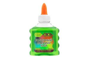 Клей прозрачный зеленый №ZB611-04 Kids Line ZIBI 88мл