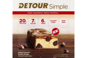 Detour Simple Whey Protein Bars Salted Caramel Cookie Dough - 12 CT