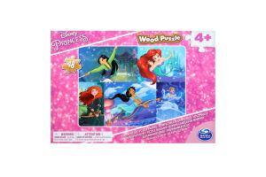 Пазл для дітей від 4 років дерев'яний Принцеси Spin Master 48ел/уп