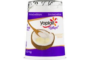 Yoplait Whips! Lowfat Yogurt Mousse Coconut Cream