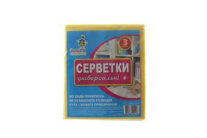 Салфетки для уборки универсальные 30х36 Добра господарочка 3шт