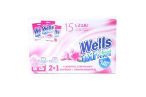 Wells Natural Oxy Power, засіб універсальний для видалення плям для тканин, пакет-саше, 30 г (моно-бокс)