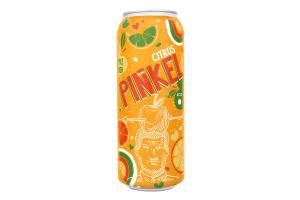 Сидр 0.5л 5-6.9% газований солодкий зі смаком цитруса Pinkel Cidre Royal з/б