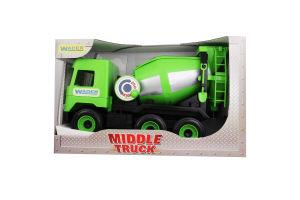 Игрушка для детей от 3лет №39485 Concrete mixer Middle truck Wader 1шт