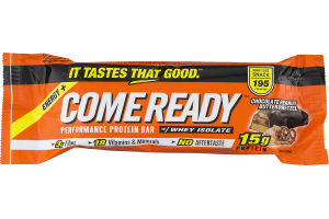 Come Ready Performance Protein Bar Chocolate Peanut Butter Pretzel