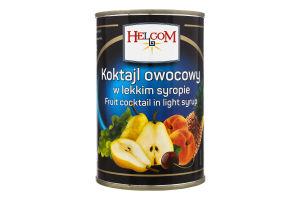 Коктейль фруктовый в сиропе Helcom ж/б 410г