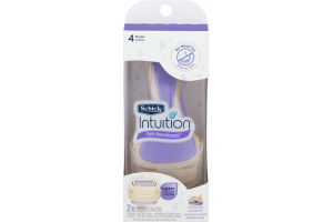 Schick Intuition Pure Nourishment Lather & Shave Razor Coconut Milk & Almond Oil