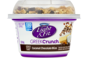 Dannon Light & Fit Greek Crunch Nonfat Yogurt Coconut Chocolate Bliss