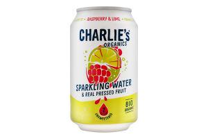 Вода минеральная Charlie's с соком малина-лайм ж/б