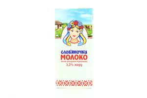 Молоко 3,2% ультрапастеризованное Славяночка т/п 950г