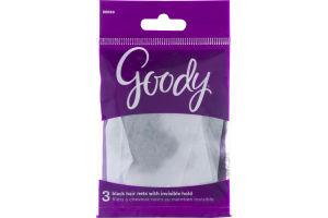 Goody Hair Nets Black - 3 CT