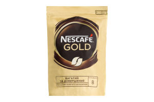 Кофе натуральный растворимый сублимированный Gold Nescafe д/п 280г
