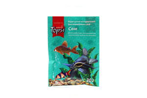 Корм сухой натуральный для аквариумных рыб Сом Topsi 30г