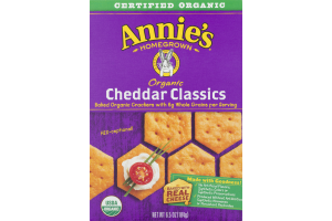 Annie's Homegrown Organic Cheddar Classics Baked Organic Crackers