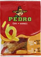 Цукерки желейні з фруктовим соком Черв'ячки Pedro м/у 80г